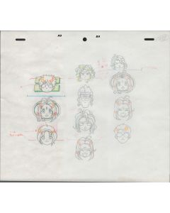 AMG-684 - Ah My Goddess OVA EYECATCH anime genga 3 sketch set
