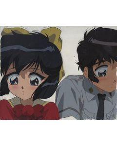 CCD-025 - Utako & Akira blushing!! - CLAMP Campus Detectives anime cel $69.99