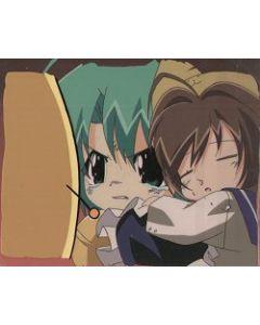 Digi-Charat76 Digi-ko & Puchi-ko With matching background!! - Digi-Charat anime cel $159.00