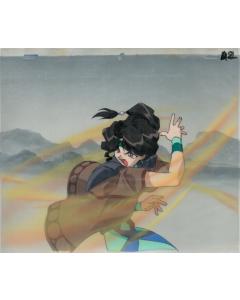 ElHaz-578 - El Hazard OVA 1 OPENING anime cel (Matching background)
