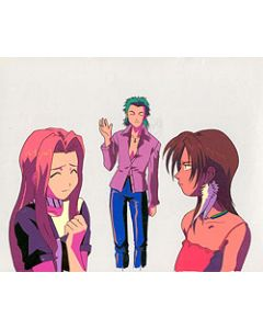 ExD-10 Lisa & Lorna at dance club episode 1 - Ex-Driver anime cel