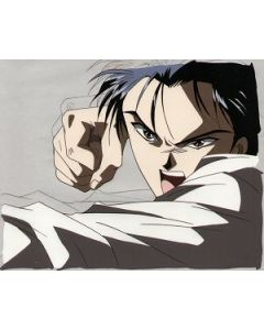 FY471 Tamahome strikes!  - Fushigi Yuugi anime cel $59.00