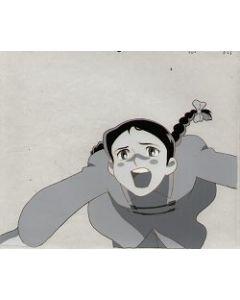 G-Robo-36 Flashback of young Ginrei! - Giant Robo anime cel