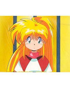 GFYuna26 Yuna with background - Galaxy Fraulein Yuna anime cel
