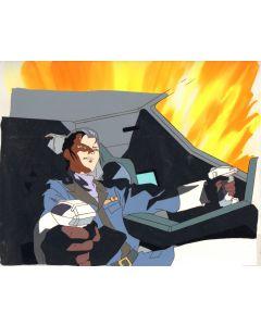 GundamX-32 - Gundam X Oversized pan anime cel (With production background)