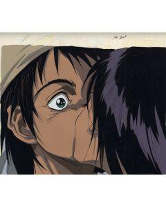 Gunnm26 - Gunnm (Battle Angel anime cel - Gally kissing Yugo