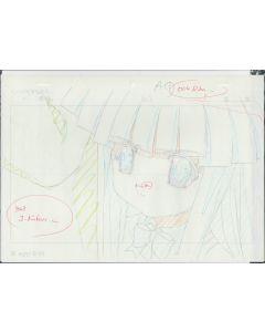 Higurashi-02 - Higurashi anime genga sketch ( 2 gengas)