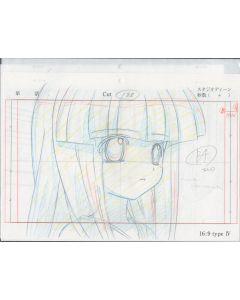 Higurashi-06 - Higurashi anime genga sketch (2 Layouts + 3 gengas)