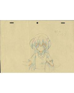 Higurashi-07 - Higurashi anime genga sketch (1 genga)