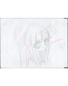 Higurashi-09 - Higurashi anime genga sketch (4 gengas)