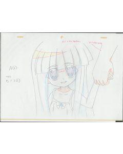 Higurashi-11 - Higurashi anime genga sketch (4 gengas)