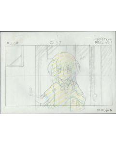 Higurashi-13 - Higurashi anime genga sketch (1Layout + 2 gengas / 10+ dougas)