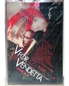 "V FOR VENDETTA  US Advance DS Theatrical Movie Poster (28"" x 40"")"