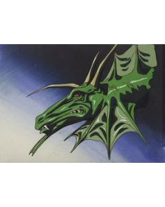 Lemnear12- Lemnear anime cel (Dragon in Space With MATCHING Background!)