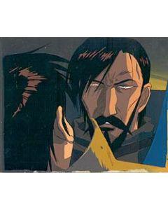LodossOVA-23 - Lodoss War OVA anime cel (Great cel of King Kashue & Parn with matching background!!)