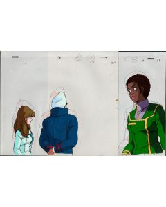 Macross-75 - Macross anime cel (2 Cel Layers are stuck to sketches)