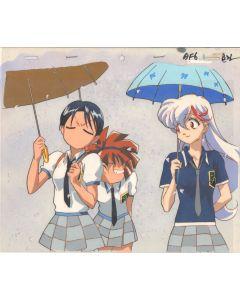 Maho Tsukai Tai-53 - Maho Tsukai Tai OVA anime cel - Sae, Nanaka, Akane (With Background)
