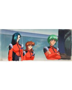 Nadesico-192 anime cel (Oversized Pan cel w/Matching background!!)