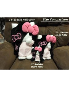 "Sadako 3D Hello Kitty The Ring Ringu 7"" plush doll"