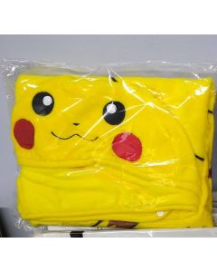 Authentic Pokemon Pikachu 3-Way Blanket / Cushion / Shawl with Hoodie