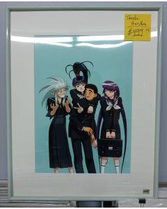 TENCHI HANKEN-04 School group - Tenchi Muyo hanken anime cel