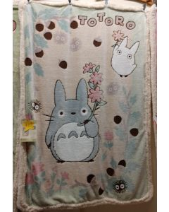 TOTORO Child Sized Fleece Blanket (140cmx100cm) (Licensed Japanese GHIBLI product produced by MARUSHIN) SUPER SOFT & CUDDLY FLEECE Blanket!!