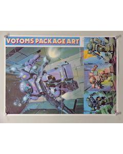 "Votoms-MI-POS - Votoms -My Anime Magazine insert poster12/1983(approx. 14.5"" x 20"") Folded VF/NM condition"