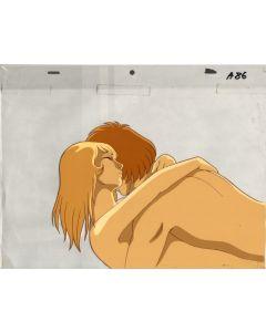 Yamato-02 - Final scene from Final Yamato movie - Yamato anime cel